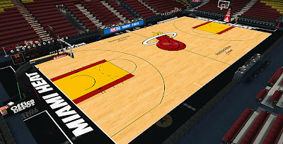NBA 2K14  Heat HD Texture Court Mod