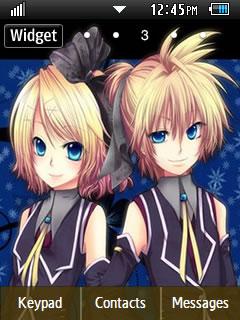 Anime Kagamine Len Samsung Corby 2 Theme Wallpaper