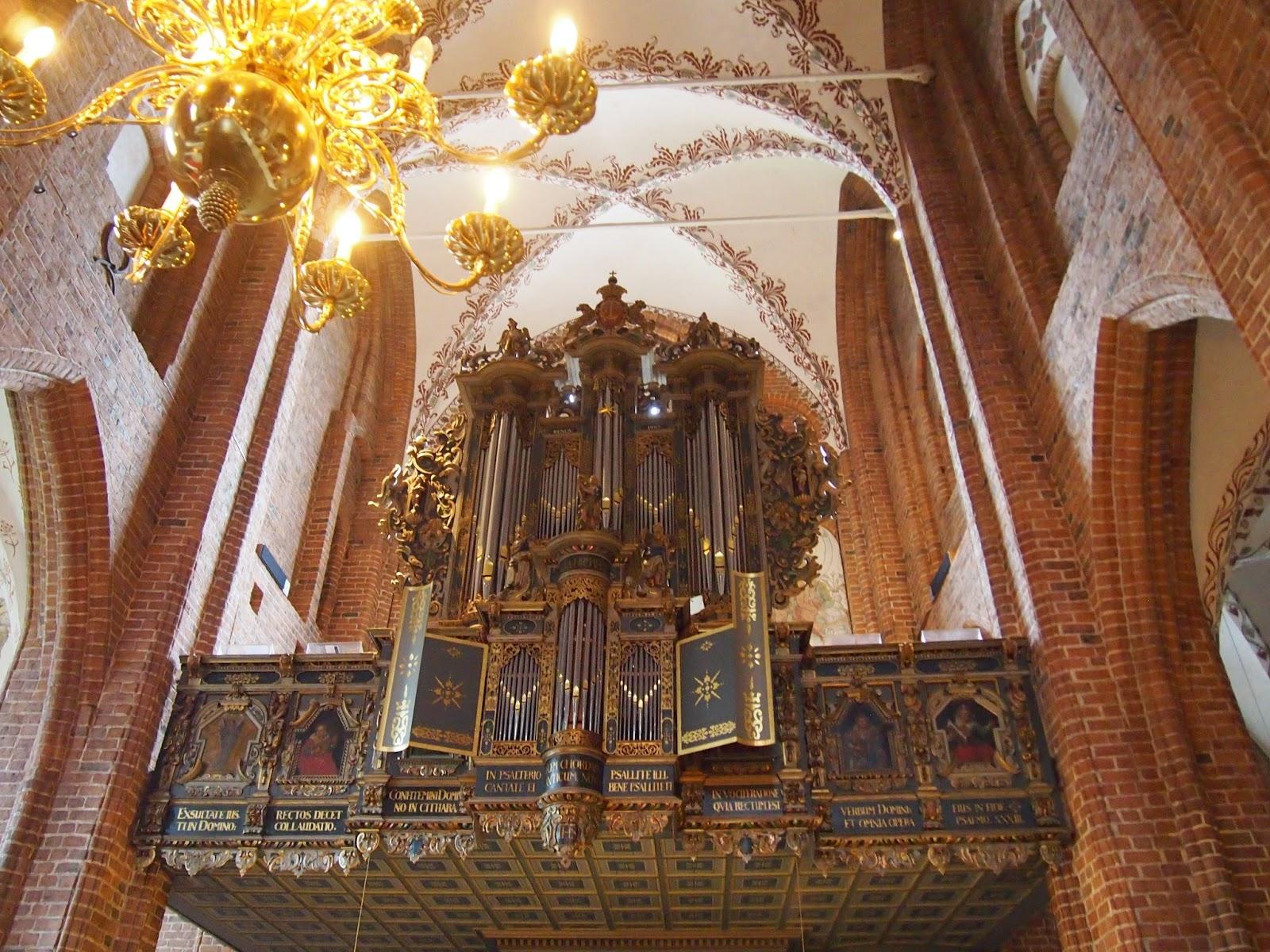 paintings and an organ in Helsingor, Denmark