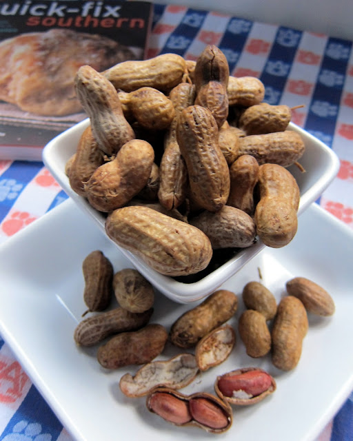 Slow Cooker Boiled Peanuts - raw peanuts, water and salt - put in the slow cooker and let simmer overnight. Add seasonings to water - great with crab boil seasoning, jalapeños and cajun seasoning! Perfect for summer BBQs and football tailgating!