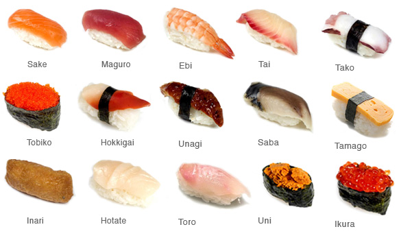 Sanbiki restaurant blog february 2013 for Sushi fish names