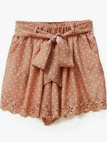 http://www.sheinside.com/Pink-Polka-Dot-Print-Cut-Out-Hem-Chiffon-Shorts-p-163535-cat-1740.html