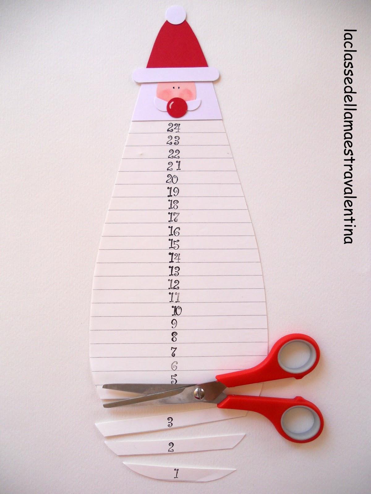 Calendar Self Made : La classe della maestra valentina calendario dell avvento
