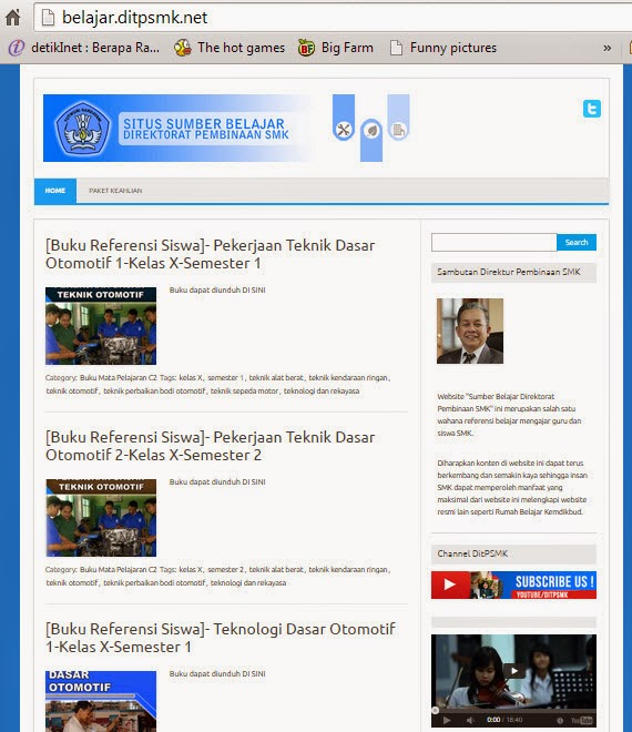 Website Sumber Belajar DITPSMK Kurikulum 2013