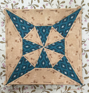 Dear Jane Quilt - Block H11 Piercing Rays