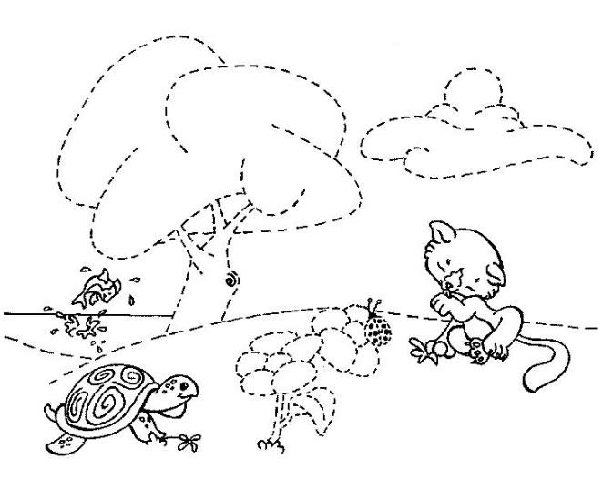 a desenhar Ligar pontos animais colorir