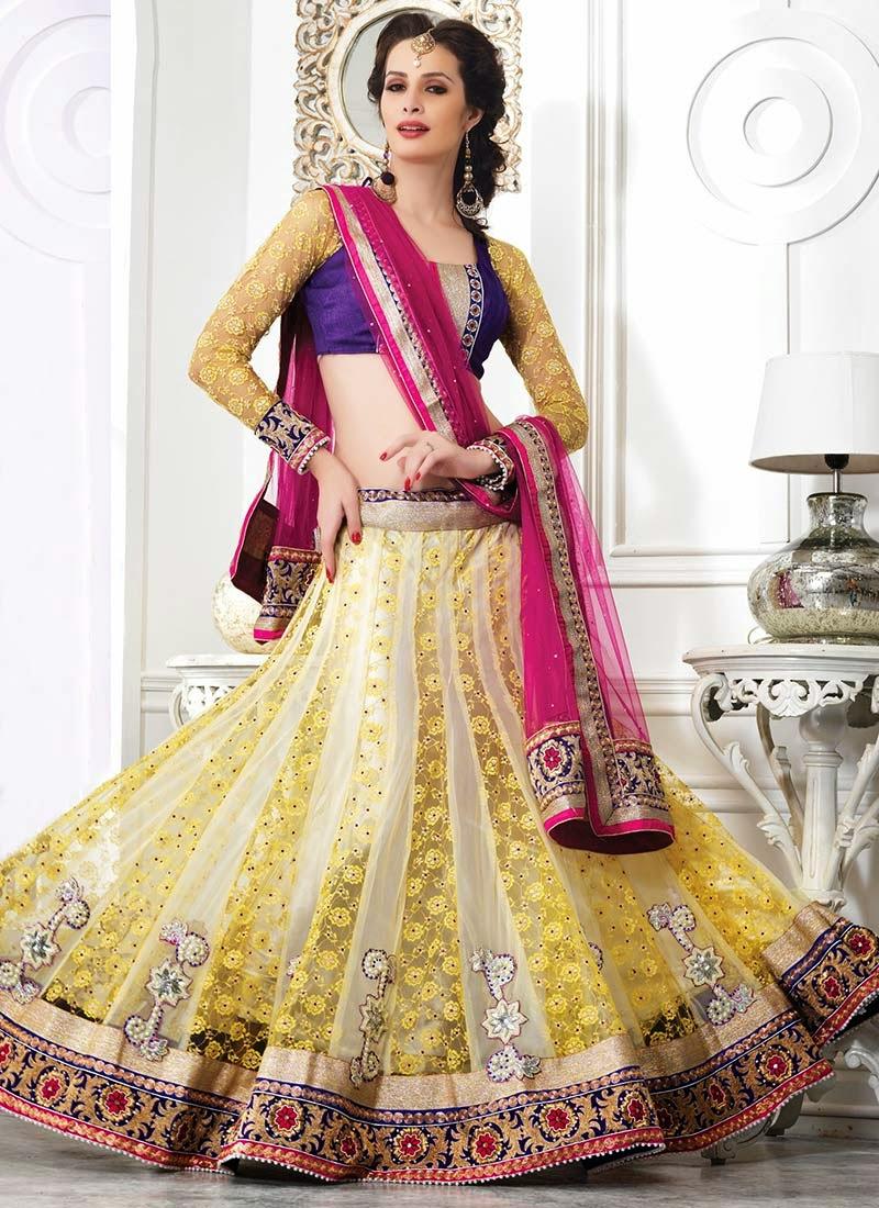 Wedding Net Brasso And Velvet Lehenga Choli Latest