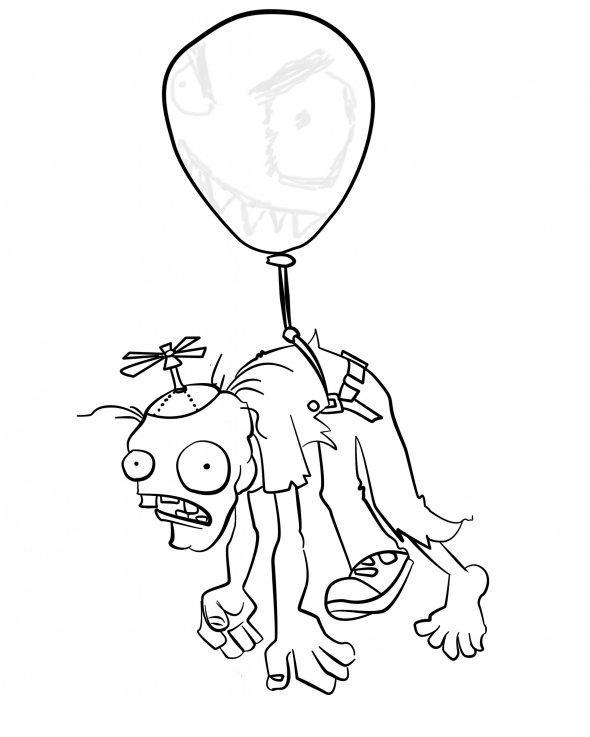 Figuras para pintar de plantas vs zombies - Imagui