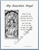 Dynamic image pertaining to guardian angel prayer printable