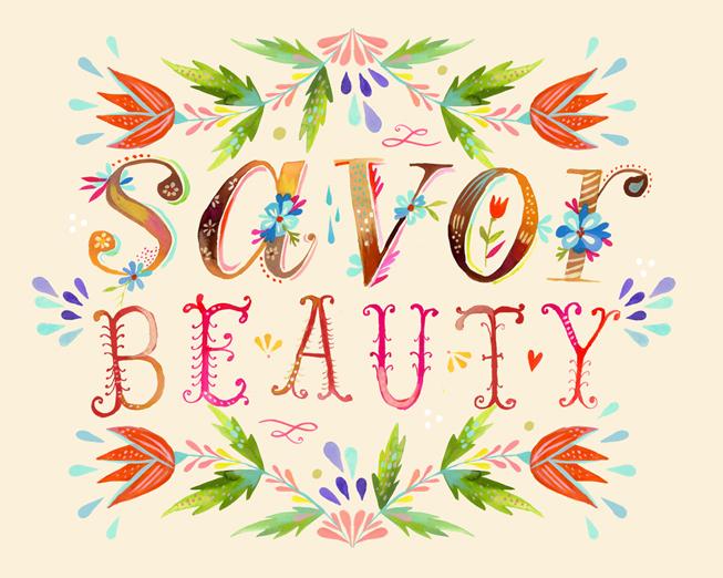 Katie Daisy Wallpaper Savor Beauty