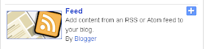 Blogger Feed Widget