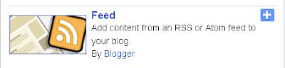 Blogger Feed Widget