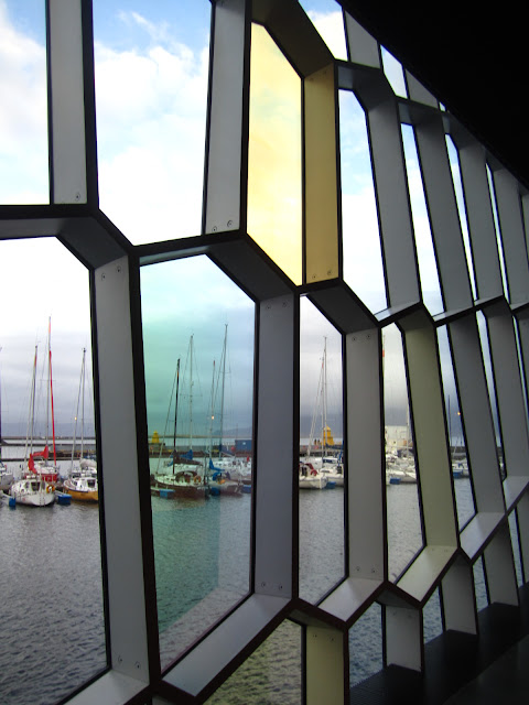 View from the new concert hall in Reykjavik, Iceland.