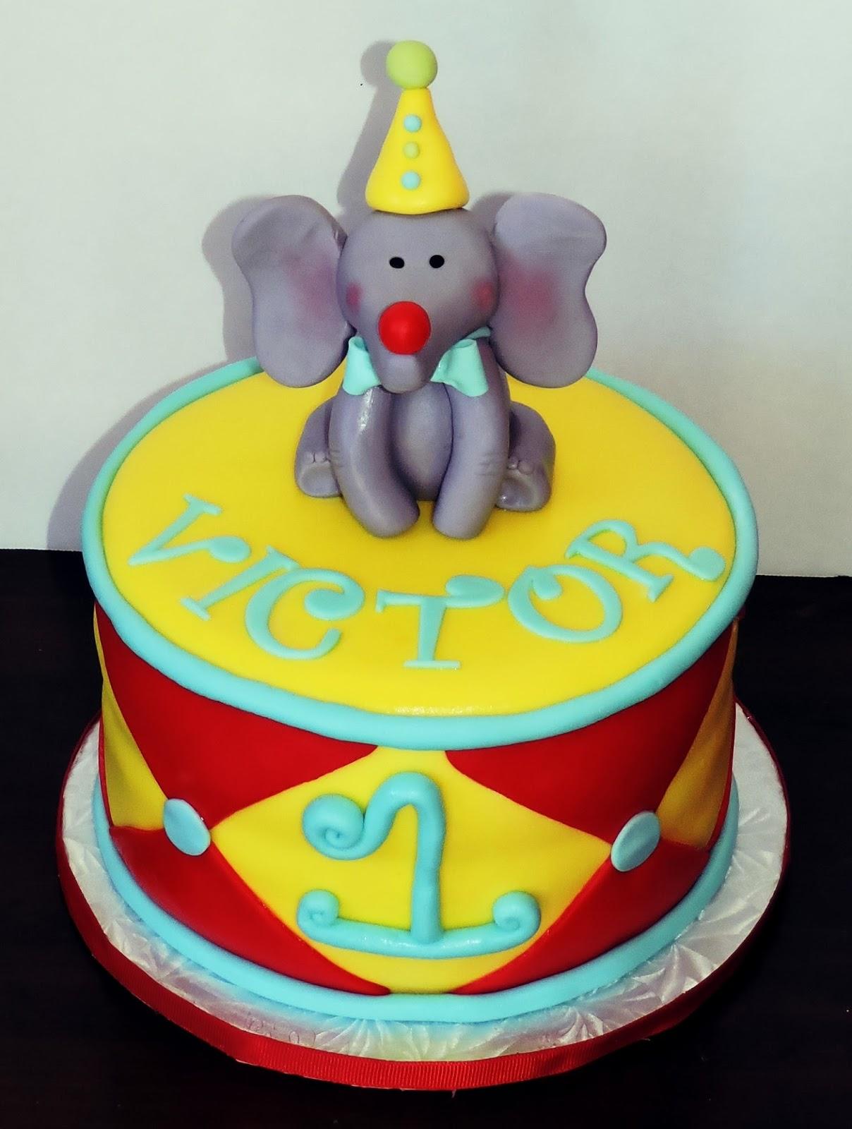 CakesOr Something Like That Circus Themed 1st Birthday Cake