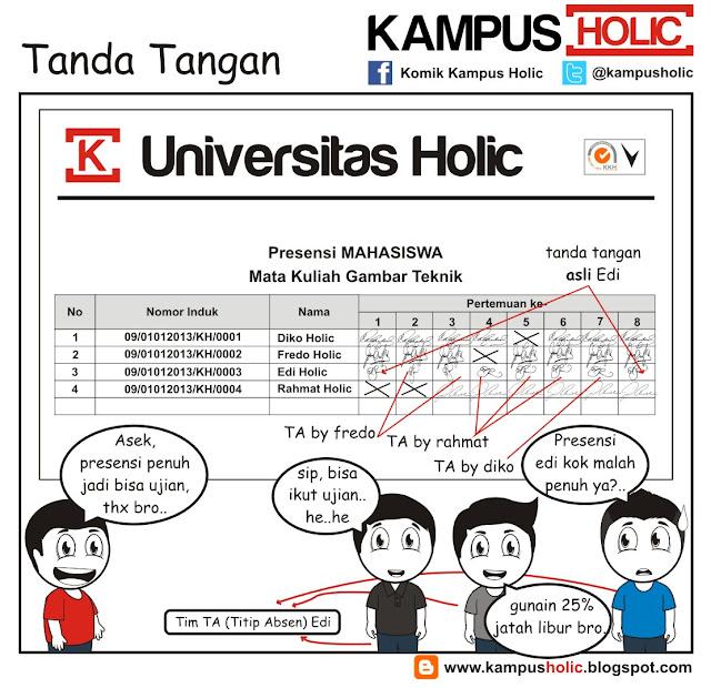 #180 Tanda Tangan kuliah gambar teknik mahasiswa komik kampus holic