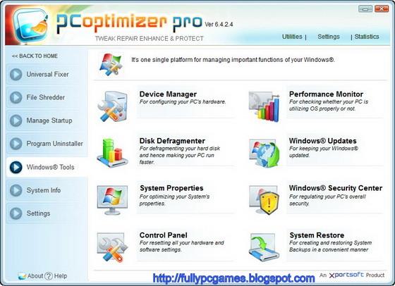 2 Ottimizzare e velocizzare Windows: PC Optimizer Pro 2013 6.4.5.8