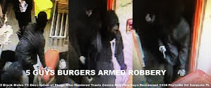 VIDEO: Same 3 Black Armed Robbers at 5 Guys Burgers SRQ and Burger King