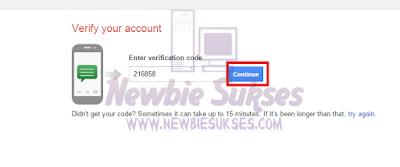 Verifikasi nomor telepon Gmail menggunkana SMS