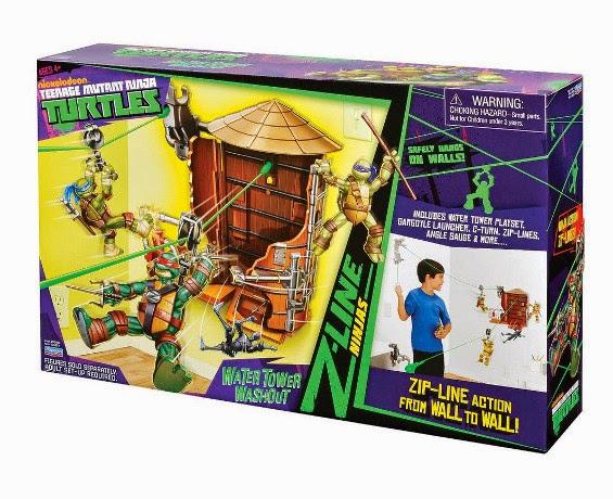 JUGUETES - LAS TORTUGAS NINJA : Ninja Turtles   Z Line Torre de agua   Producto Oficial   Giochi Preziosi 95050   A partir de 4 años