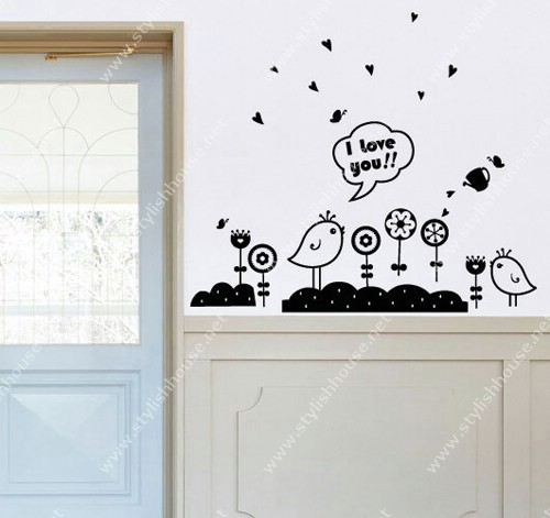 Stylish shapes of wall stickers for living room walls