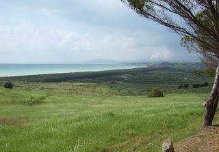Bild 12: Hang hinunter in das östlich liegende Tal des Platani