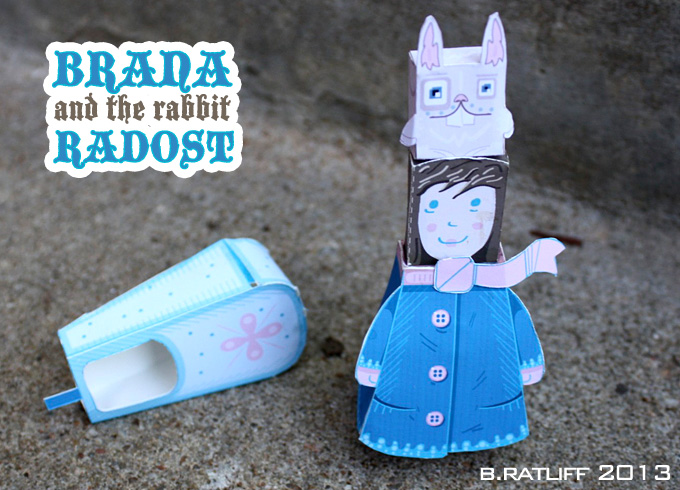 Brana and the Rabbit Radost Paper Toy