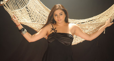 Namitha In Black Dress Stills
