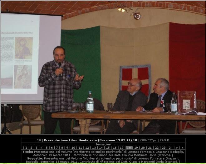 Presentazione libro sul Monferrato a Grazzano Badoglio durante GOLOSARIA
