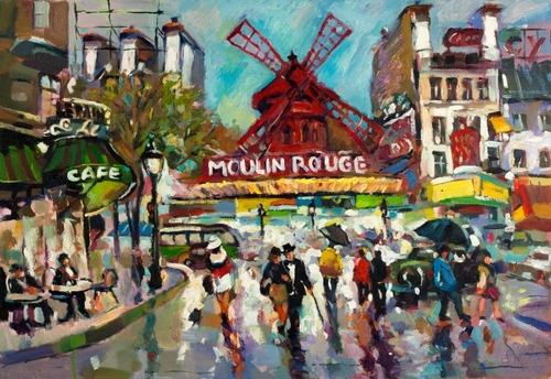 07-Moulin-Rouge-Ivailo Nikolovhas-Bright-Paintings-Modern-Impressionism-www-designstack-co