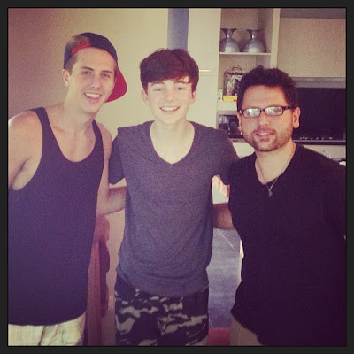 Greyson Chance with Jeremy Thurber and Chris Destefano Bali 2013