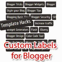 Multi-colored Labels Widgets For Blogger