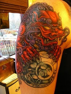 Full Color Chinese Dragon Tattoo - Arm Tattoo Design