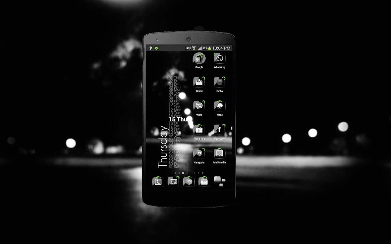 Download Theme Crystal Black Flat Hd V68 Apk Download Apk Center