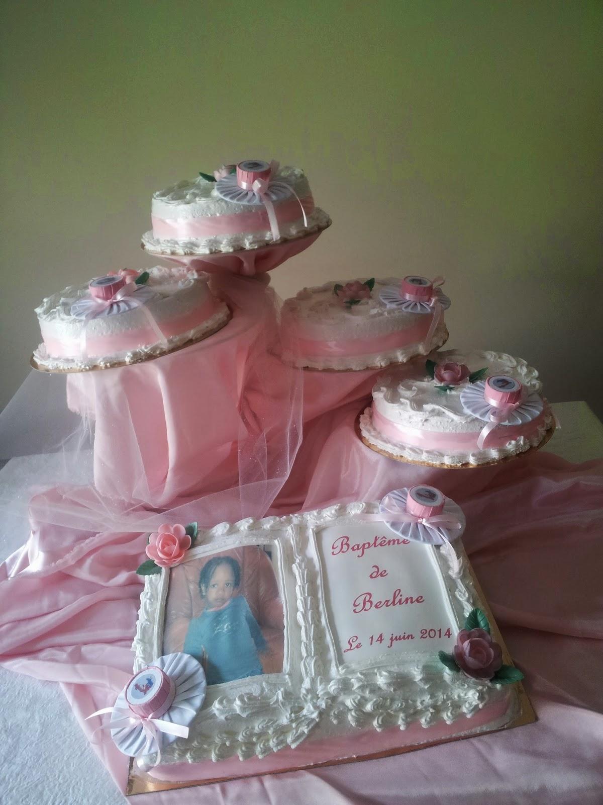 La Pâtisserie de Brunette: Gâteau de baptême personnalisé