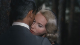 Eva Marie Saint hugging Grant North by Northwest 1959 movieloversreviews.blogspot.com