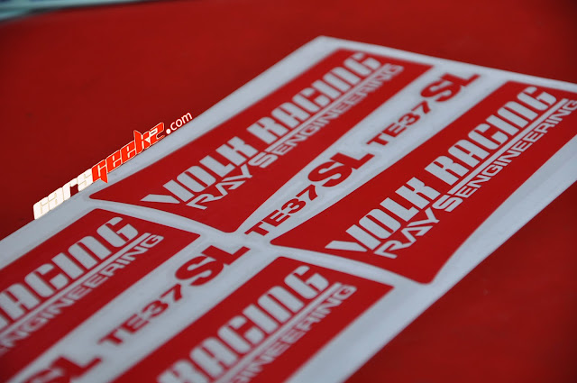 TE37 SL Sticker - Red Colour Sticker vinyl