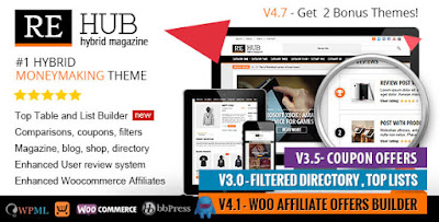 Download REHub v4.7.6 Directory, Shop, Coupon, Affiliate Wp Theme