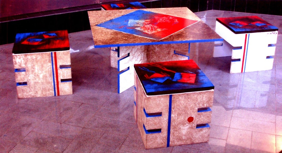 Hand painted furniture by artist Yusuf Arakkal, Image courtesy artist, Art Scene India