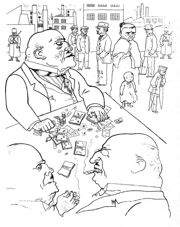 Drawing by George Grosz