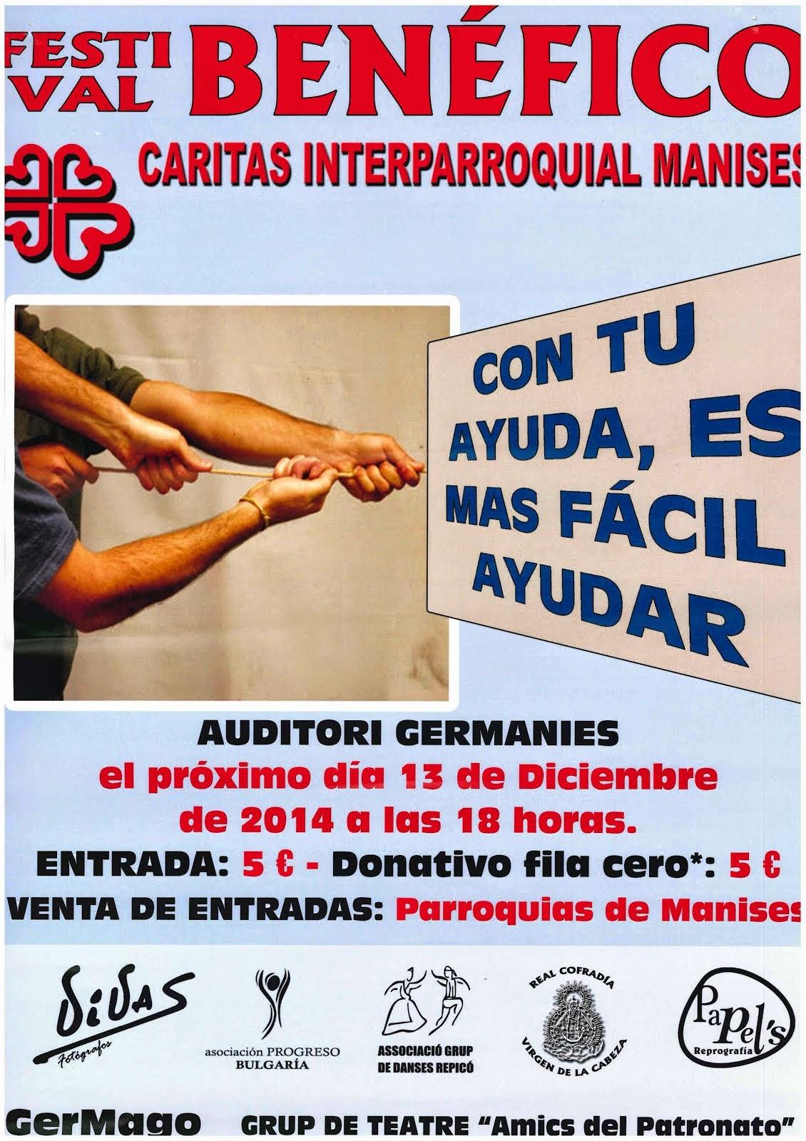 FESTIVAL DE CÁRITAS INTER- PARROQUIAL DE MANISES, 13.12.14.