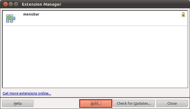 Menambahkan ekstensi ke LibreOffice
