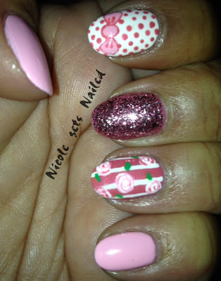Pink Skittle Nails Nail Art