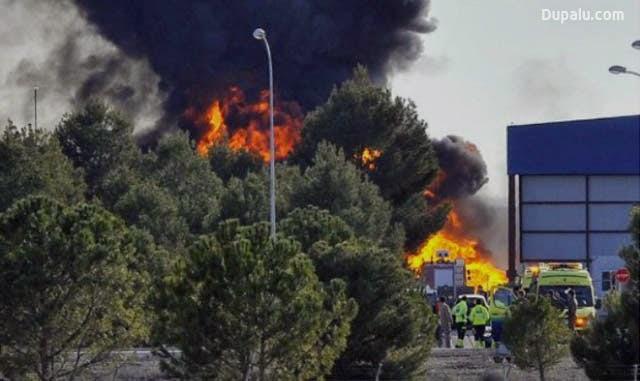 Imagen del accidente del caza F16 griego en Albacete