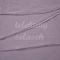 Telekung lycra ungu keladi gelap jahitan karipap di tepi