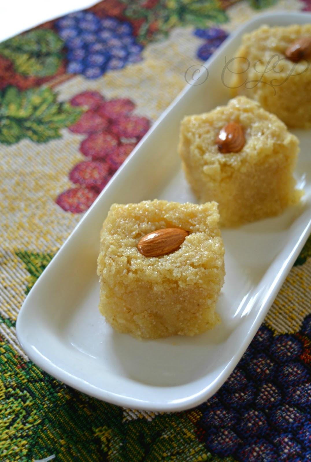 Egyptian Semolina Cake - Basbousa