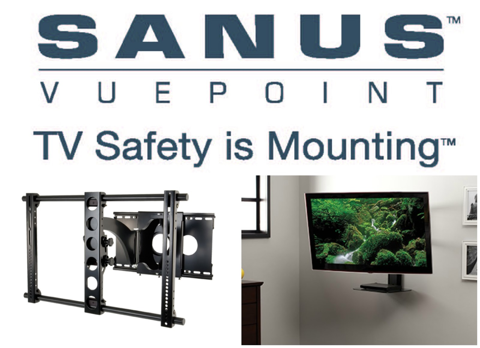 SANUS tv mounts