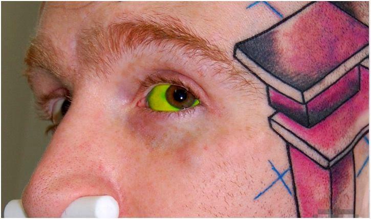 Olho verde tatuado