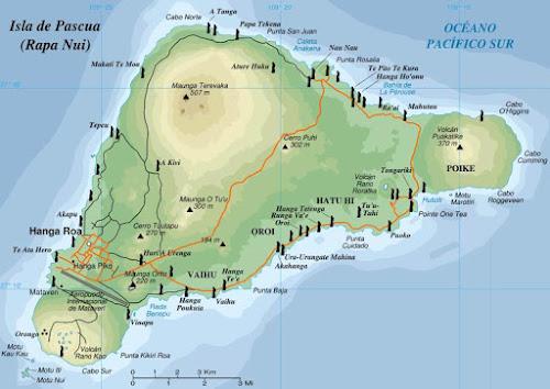 Os Moais da Ilha de Pascoa