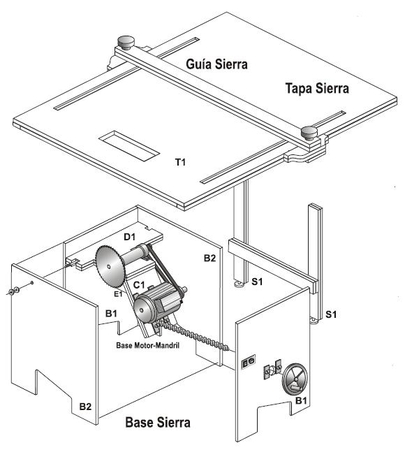 Muebles domoticos como hacer una sierra circular de banco for Planos carpinteria
