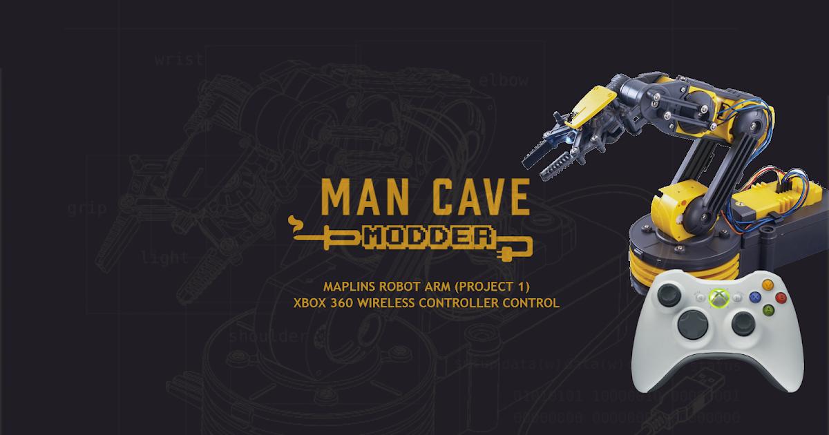 Man Cave Xbox : Man cave modder maplins robot arm with xbox wireless